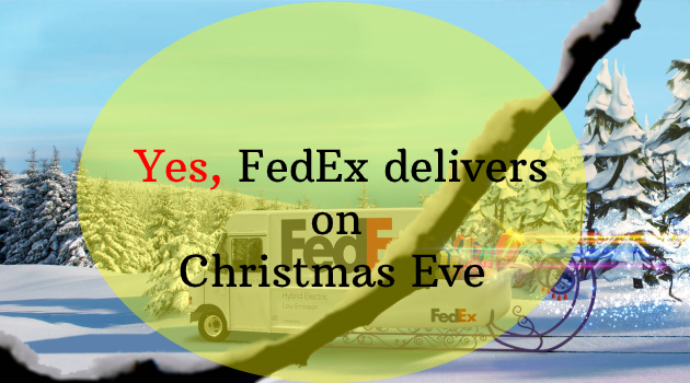 FedEx delivers on Christmas Eve